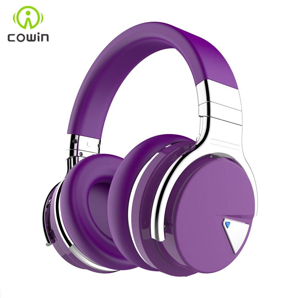 Cowin E/7 [2018 Mis À Jour] ANC casque bluetooth sans fil casque bluetooth avec Microphone Active Noise Cancelling Headphones