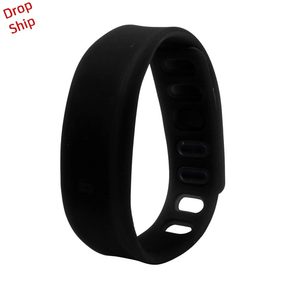 Stylowa hurtownia Mężczyźni Kobiety Relogio Rubber LED Watch Data - Męskie zegarki - Zdjęcie 6