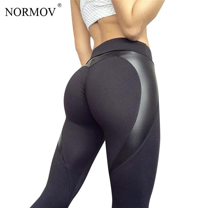 NORMOV Women Heart Fitness Leggings High Waist Pants Women Sportsweaer Bodybuilding Legging Slim Stretch Trousers Women S-XL