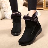 Shoes Woman Winter Snow Boots Female Keep Warm Plush Zipper Ankle Boots Ladies Winter Casual Shoes Women Platform Boots