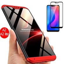 360 Full Protection Case Xiaomi Mi A2 lite Mi A2 Plastic Hard Xiaomi Mi A2 Case Shockproof Mi A2 lite Phone Cover Tempered Glass