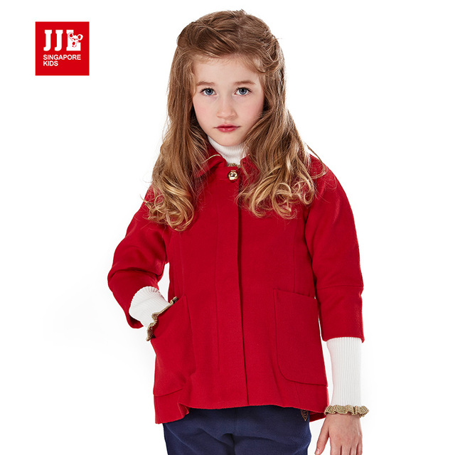 fd007b565 girls wool coat kids winter coat children clothing kids christmas gift ...