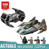 Lepin 05030 722Pcs Star Vader Tie Advanced VS A Wing Starfighter Wars LegoINGlys 75150 Building Blocks