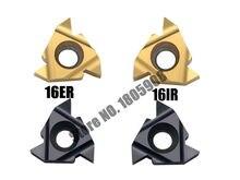 10 pcs 16ER AG60/16ER AG55/16IR AG55/16IR AG60 카바이드 스레딩 인서트 55/60 도 스레딩 선반 인서트 선반 도구
