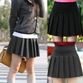 Wholesale Casual skirts womens Mini Winter High Waist Pleated Skirt Female Korean Free Shipping Elastic Ladies Slim Solid 34