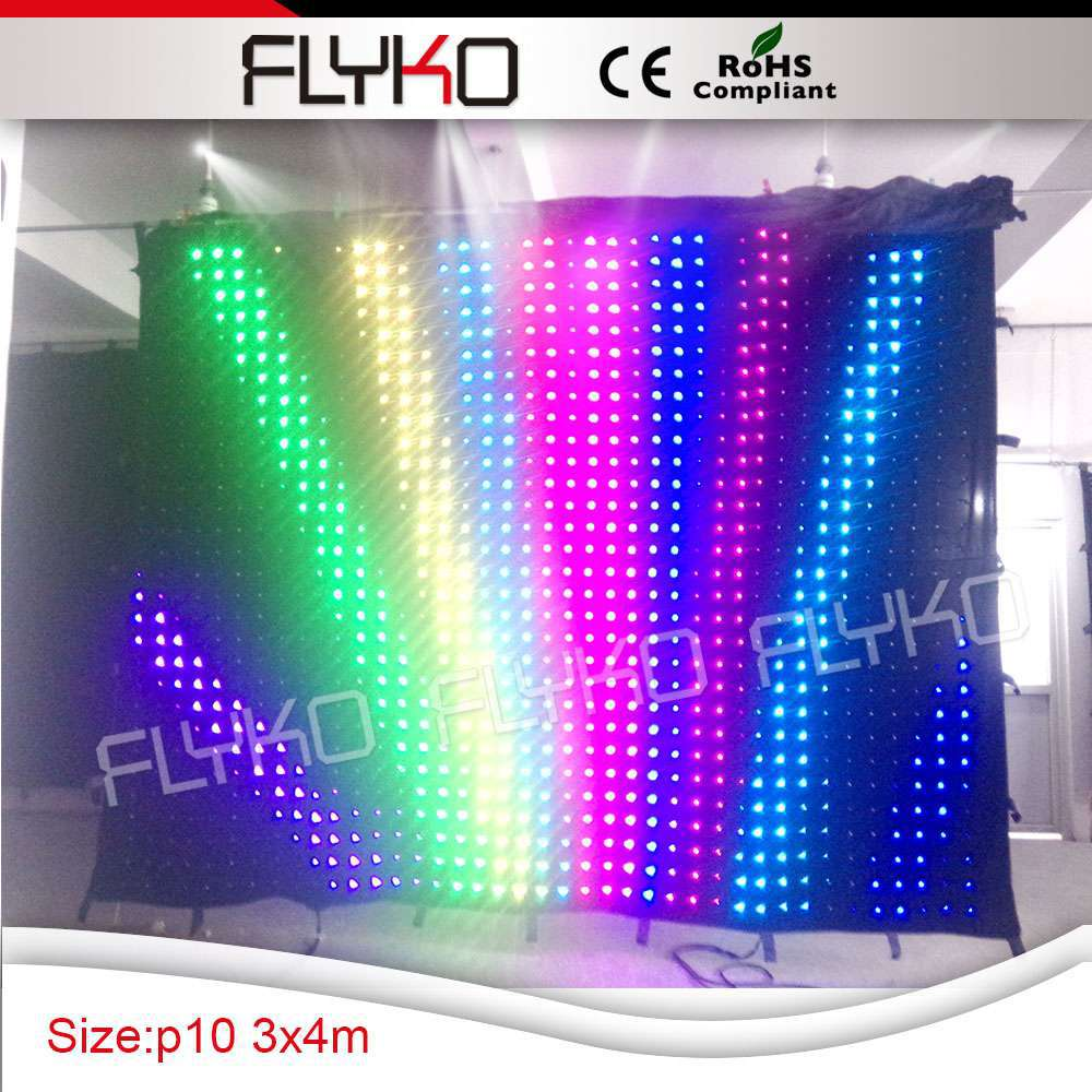 Led curtain concert - China Led Vision Video Backdrop Graphic Curtain For Concert Stage Curtain Background