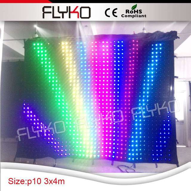 China Led Vision Video Backdrop Graphic Curtain For Concert Stage Background