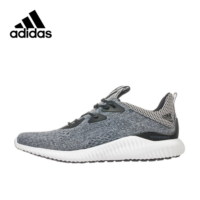 Original New Arrival Authentic Adidas Alpha Bounce Breathable Mens Running Shoes Sports Sneakers BB9043