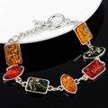 Gracious Baltic Simulated Imitation Amber Honey Multicolor Chic Link Bracelets & Bangles Bracelets For Women L81301
