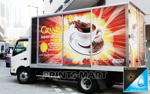 Custom sticker printing for truck trailer auto wrapping 3m graphics free coating