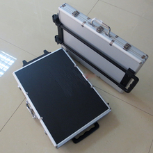 New Poker belt trolley 1000 clips case with trolley aluminum ABS box for poker set 1000