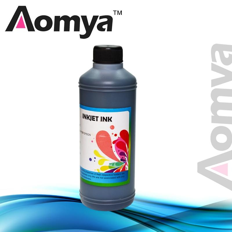 1 liter Aomya BLACK Color Water based Dye ink Compatible for HP printer (Bulk ink) 1000ml/ bottle