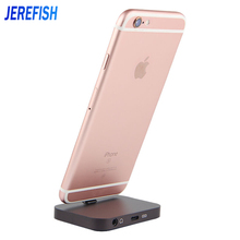 JEREFISH Aluminum Audio Charger Dock for iPhone 7 6 6s Plus 5 5s se 5c Stand Station Cradle Charging Dock for Lightning