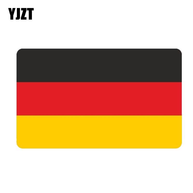 YJZT 12.9CM*7.7CM Creative Germany Flag Stickers Reflective Windows Decal Car Sticker 6-0422
