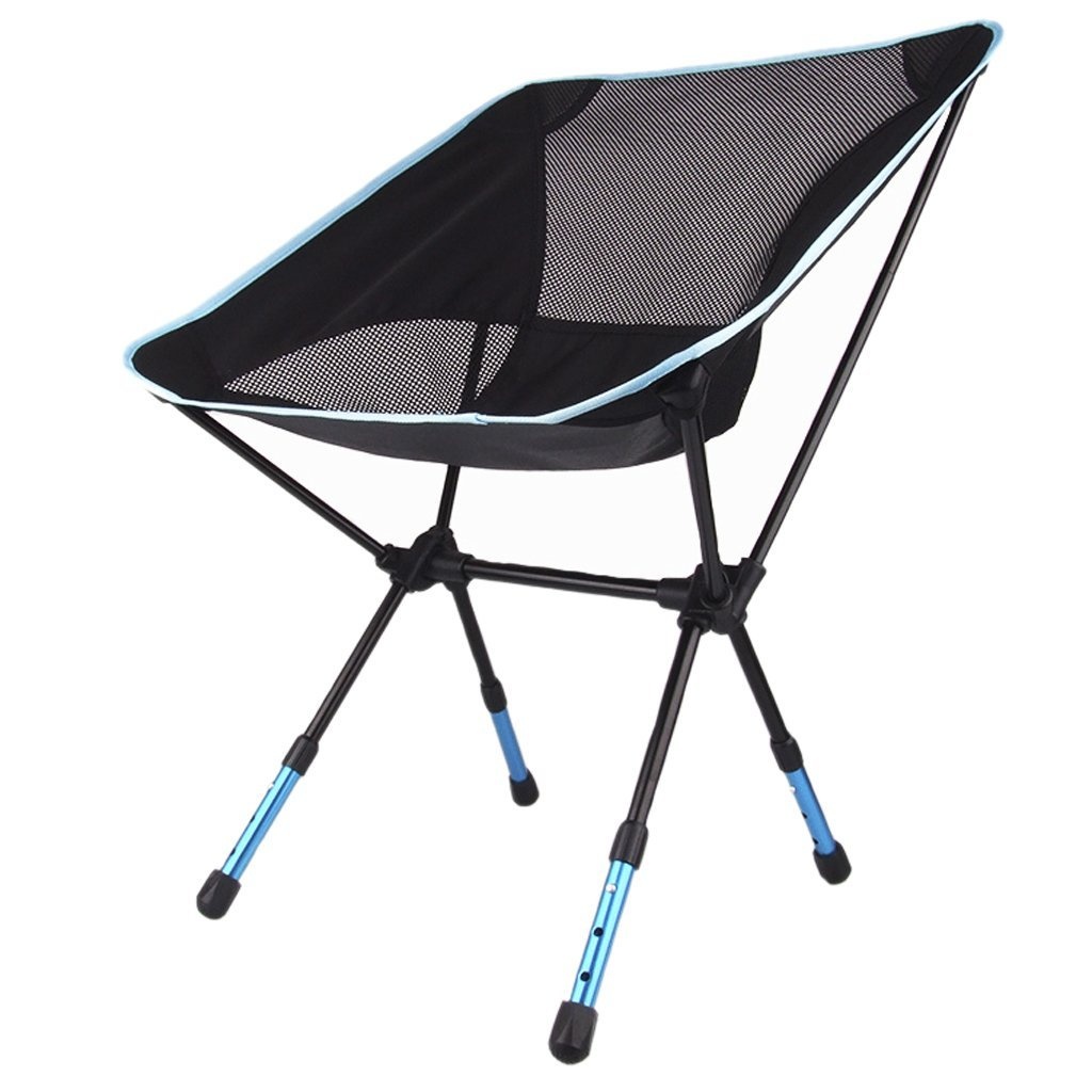Folding chair stool seat adjustable for Camping hiking fishing picnic BBQ garden ...