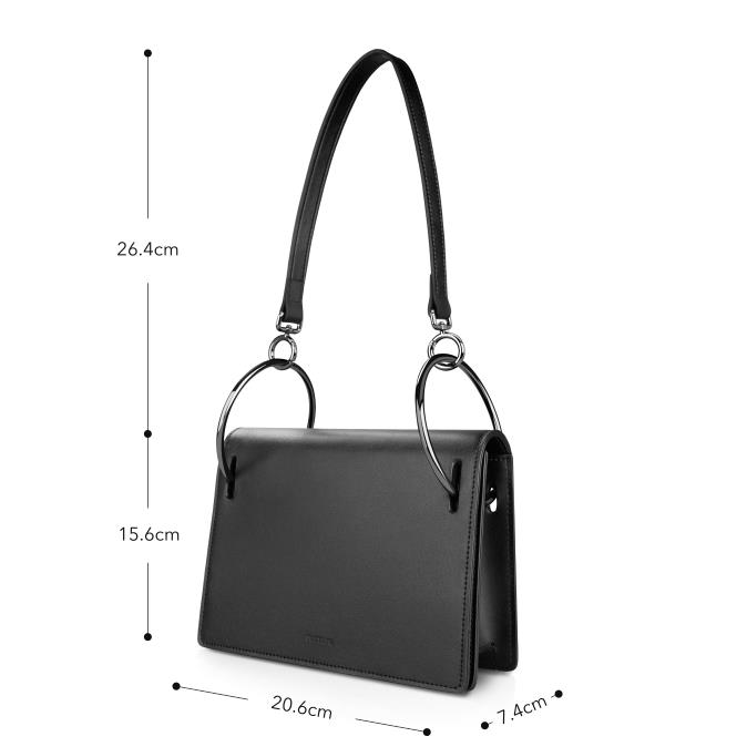 Free shiping DHL top quality New bags of 2018 leather women s bags niche design ring