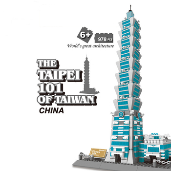 New Famous Architecture Series Famous Building Taipei 101 Building Block Gift For Children 8019