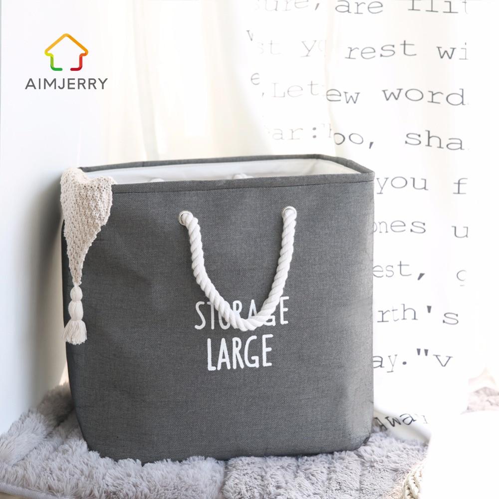 Ткань Портативный складная корзина для белья грязную одеть большой мешок для стирки хранения игрушек моя корзина Ванная комната разное Орг...