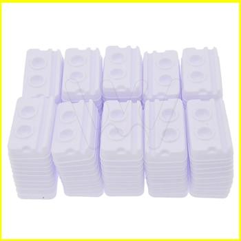 500pcs Dental Supply Adhesive Disposable Mixing 2 Holes Trays Model White Medical