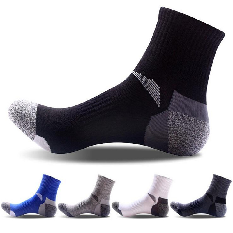 2018 New Brand Men's Cotton   Socks   Men Breathable Sport   Socks   Half Quick Dry Compression   Socks   For Men Male Warm   Socks   Calcetines