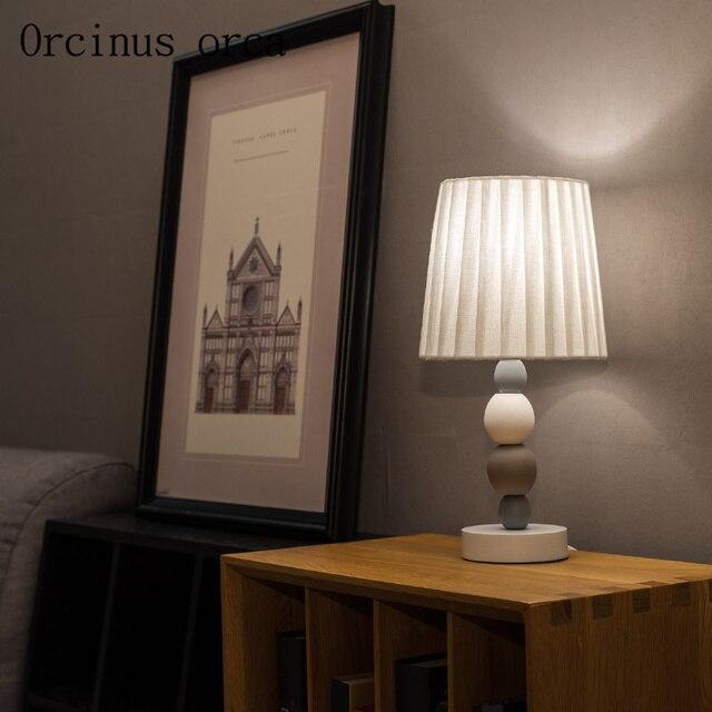 Nordic minimalist modern ceramic table lamp living room bedside lamp ...