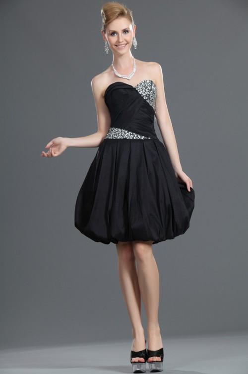 Vestido negro corto de boda