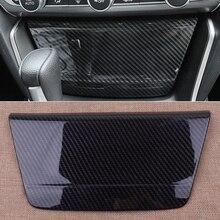 CITALL новый черный углеродного волокна Текстура консоли автомобиля сигарет прикуривателя Отделка Декор пригодный для Honda Accord 2018