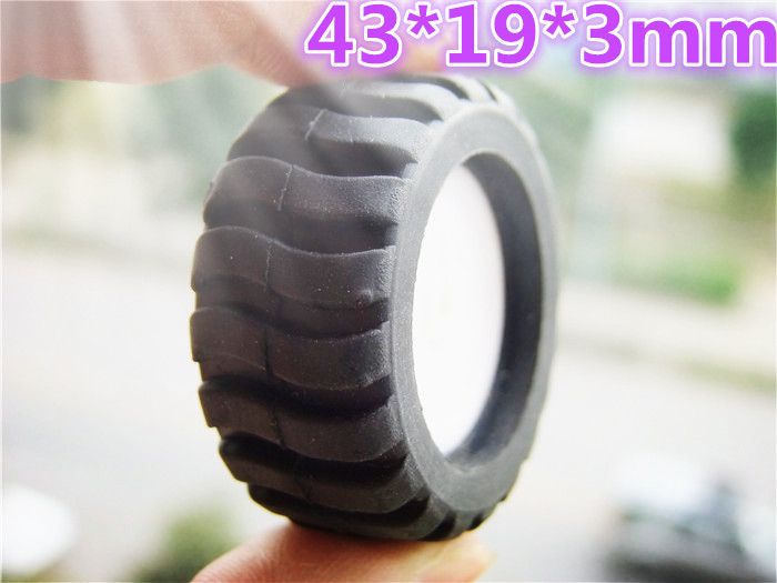 1pcs/lot K346B 43*19*3mm D-hole Rubber Wheel Suitable for N20 Motor D Shaft Tire Car Robot DIY Toys Parts Sell At A Loss USA соска pigeon b 345 b 346 b347 sml