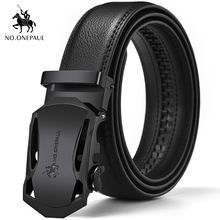 NO.ONEPAUL leather belt men's leather automatic buckle belt men's belt suit pants youth black belt free shipping Good quality free shipping classical wrapped v belt b2769 b2794 b2819 b2845 b2870 li industry black rubber b type vee v belt