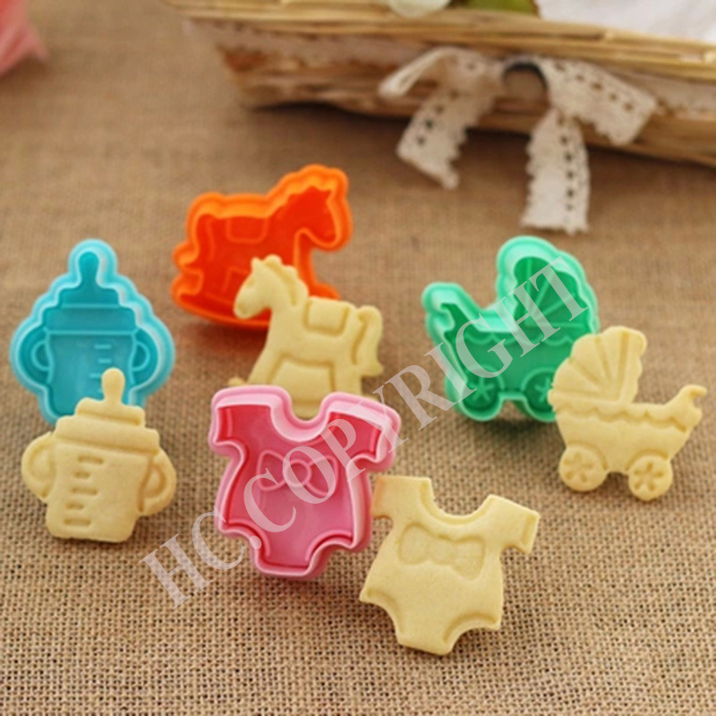 4pcs set Baby Buggy Clothes Rocking Horse Milk Bottle