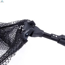 Top Aluminum Alloy Folding Carp Fishing Net With Two Sections Extending Pole Handle Telescoping Fishing Net