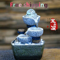 Free shiping Small water fountain waterscape decoration feng shui wheel office desktop creative furnishing articles