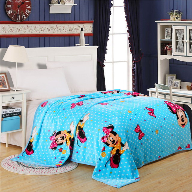 Home Textiles,bow Blue Mickey Style Best Fabric Coral Fleece Blankets For  Bed Bedclothes Can