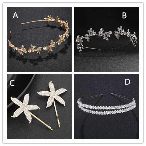 8 Styles New Fashion Baroque Luxury Crystal Bridal Crown Tiaras Light Gold Diadem Tiara for Women Bride Wedding Hair Accessories