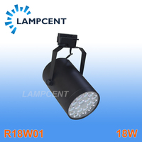 Free shipping led rail lighting 18W led track light high quality high lumens spotlight for store lighting