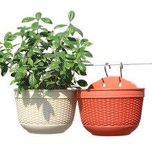1pc Creative Half Round Succulent Planter Flowerpot Holder Plastic Resin Nursery Pot Desktop Home Garden Office Decoration Gifts
