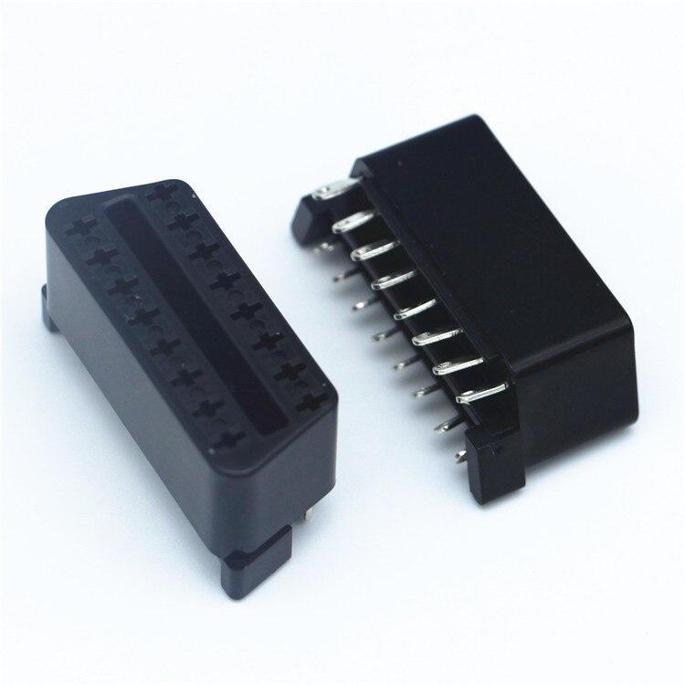 J1962F OBD2 16 Pin Female Connector OBD II 16pin Connector Diy