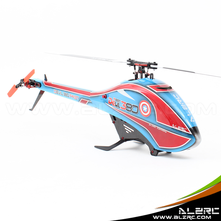 ALZRC-Devil 380 FAST FBL KIT RC Helicopter KIT Aircraft RC Electric Helicopter 380FBL Frame kit Power-driven Helicopter Drone alzrc devil 380 fast fbl super combo black rc 380 helicopter