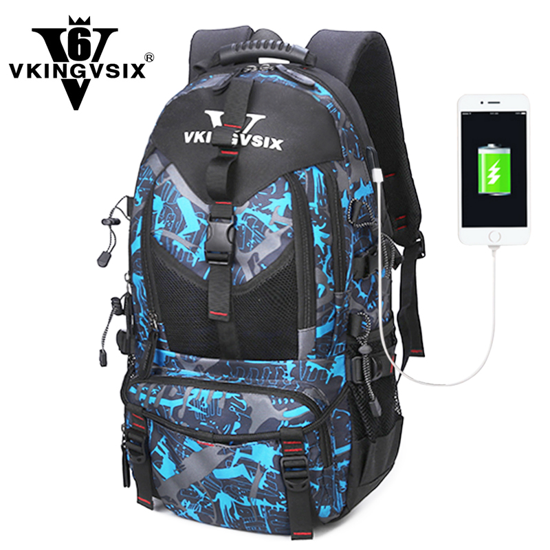 VKINGVSIX 14-17 inch USB laptop backpack Waterproof school bags teenagers boy girl 1-6 Grade Women Men bagpack mochila rucksack vkingvsix usb waterproof school bags for teenagers 14 17 inch laptop backpack men women boy travel back pack bagpack mochila