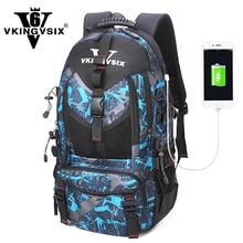 VKINGVSIX 14-17 inch USB laptop backpack Waterproof school bags teenagers boy girl 1-6 Grade Women Men bagpack mochila rucksack