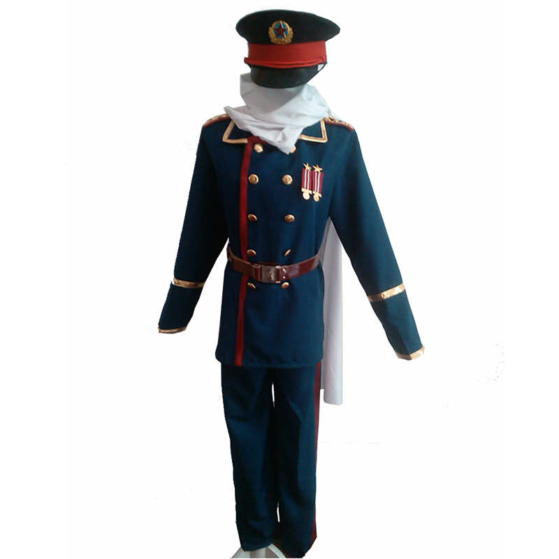 2017 Japanese Anime Axis Powers Hetalia APH Soviet Union Russia Ivan Braginsky Cosplay Costume Army Uniform