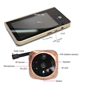 Image 4 - Video Peephole Wifi Doorbell Camera 4.3 Inch Monitor Motion Detection Door Viewer Video eye Wireless Smart Ring Intercom