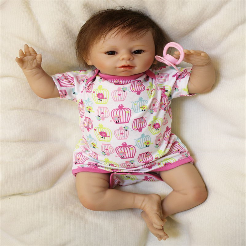 SanyDoll 19 inch 49 cm Silicone baby reborn dolls, lifelike doll reborn Lovely doll's birthday gift for Christmas gifts newest silicone reborn doll 50cm 20 handsome baby reborn dolls lifelike baby newborn christmas birthday gift juguetes for kids