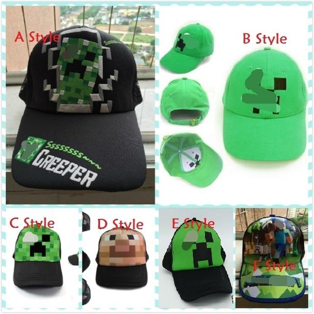 Оптовая продажа мальчики девочки ВС Шапки мультфильм шапки Молодежные Minecraft  Creeper Шапки шапки Топ хип- fb3c0e923c
