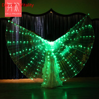 Halloween Performance Prop For Women Dance DJ LED Light up to 360 Degrees Wing Costume Butterfly Wings Color Change