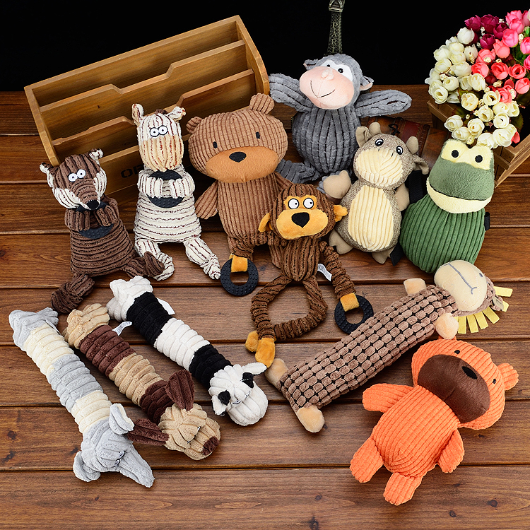 Pet Toys Voice Puppy  Dog Toy Plush Supplies Sounding Cute Animals Fleece