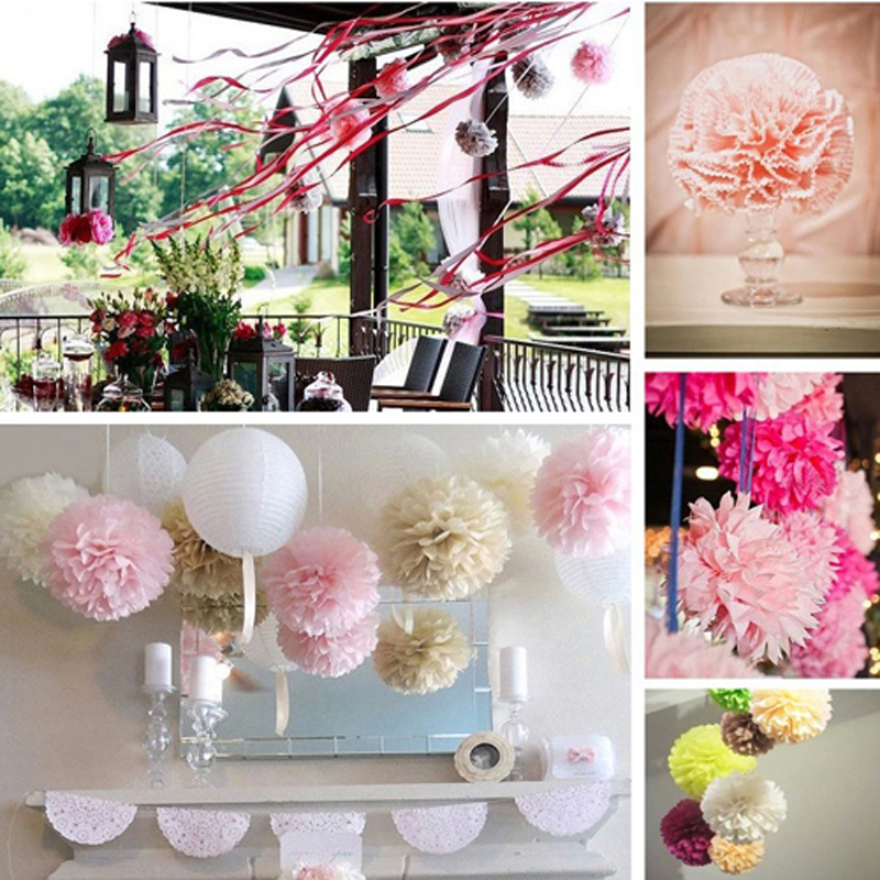 6 1020pcs wedding decorative crepe paper flower balls props 6 1020pcs wedding decorative crepe paper flower balls props supplies tissue paper pom poms wedding party festival decoration in artificial dried mightylinksfo