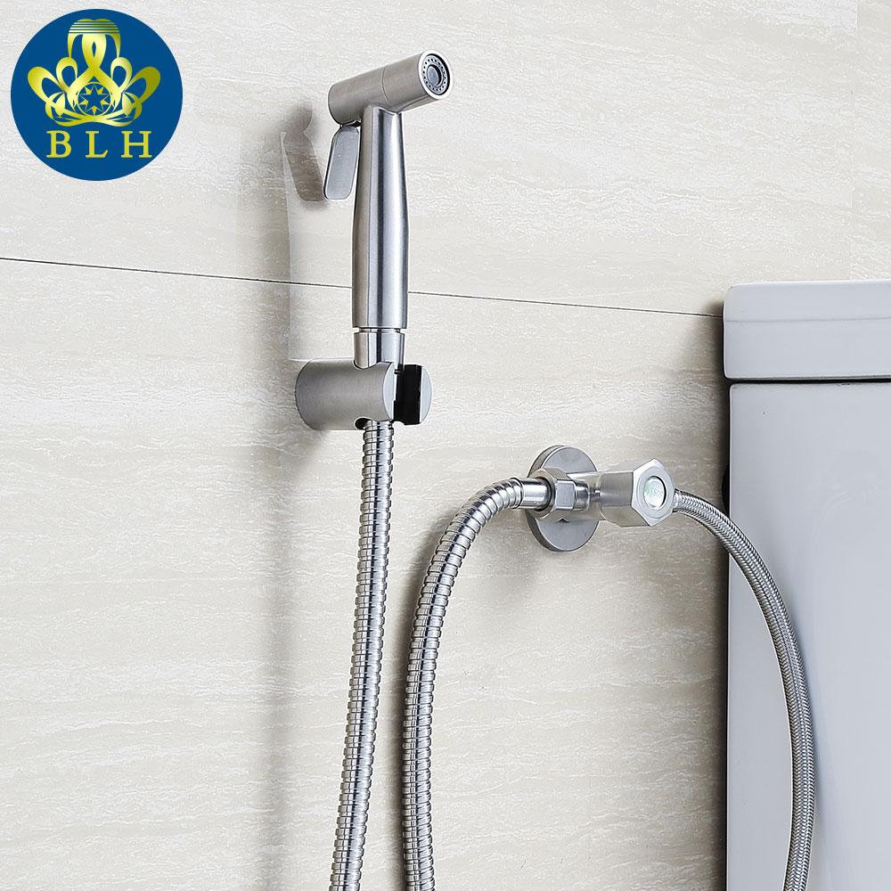 565 4 Bathroom Accessories 4pcs Set Toilet Douchette Wc 304 Stainless Steel Shower Bidet Sprayer