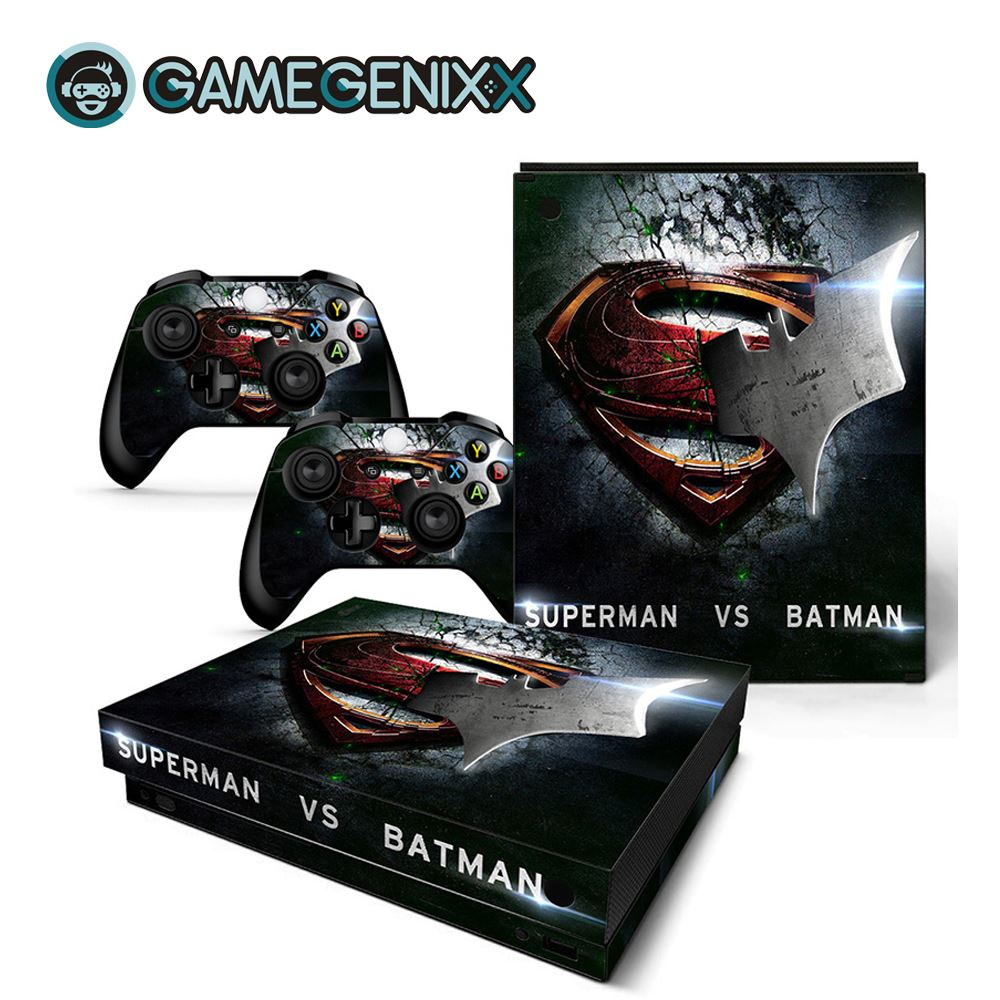 GAMEGENIXX Skin Sticker Protective Vinyl Decal for Xbox One X Console and 2 Controllers - Superman(China)