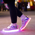 Children Fashion Sneakers USB Charging Kids LED Luminous Shoes 2016 NEW Boys Girls Colorful Flashing Lights Shoe Gold And Sliver